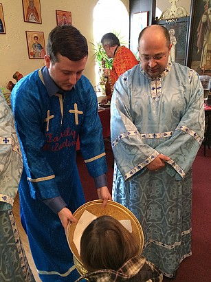 Adam & Veljko offer Antidoron to Jovan